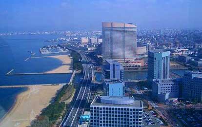 在临海游览区的未来城市空间百道海滨